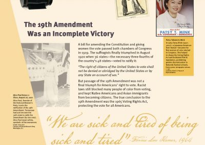 The 19th Amendment Was an Incomplete Victory